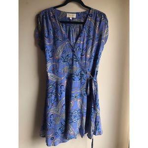 Yumi Kim silk wrap dress, size L